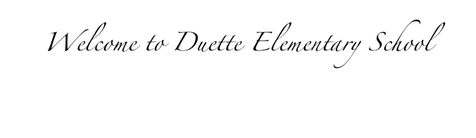 Welcome to Duette Elementary School